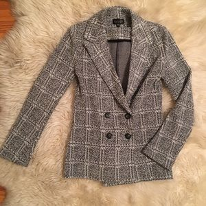 NEW Topshop Soft Plaid Blazer
